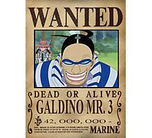 Wanted Mr3 - One Piece Photographic Print