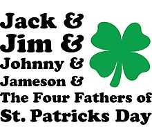 Jack, Jim, Johnny, Jameson. The Four Fathers of St Patricks Day Photographic Print