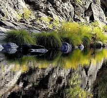 High Mountain Reflections, Fall Day El Dorado  Park, California by JKKimball
