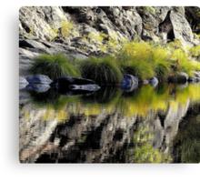 High Mountain Reflections, Fall Day El Dorado  Park, California Canvas Print
