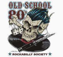 Rockabilly Society Skull by NanoBarbero