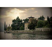 Chateau au Lac Como Photographic Print