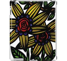 Fissure Flowers Yellow Red Blue iPad Case/Skin