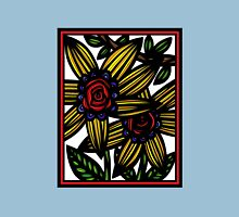 Fissure Flowers Yellow Red Blue T-Shirt