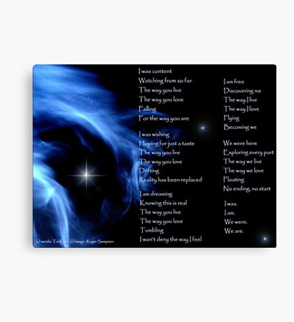 """The Image of - """"We Are"""" by TeriLee Canvas Print"""