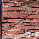 Old Red Wall w/ Diagonal Shadow by Scott Johnson