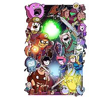 Adventure Time - Smash bros crossover Photographic Print
