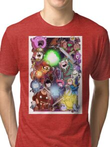 Adventure Time - Smash bros crossover Tri-blend T-Shirt