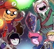 Adventure Time - Smash bros crossover Sticker