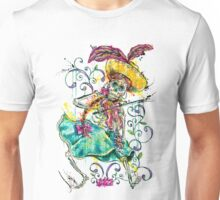 Day of the Dead Día Day Los Muertos Calavera Fiddle Player Unisex T-Shirt