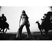 Biba Outfit Photographed On The Sussex Downs Photographic Print