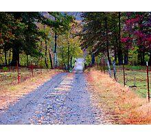 Walking Down Memory Lane Photographic Print