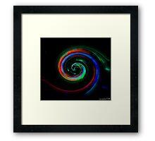 Swirl Color Framed Print