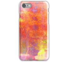 PASTEL IMAGININGS 1 Colorful Rainbow Abstract Watercolor Painting Textural Bold Summer Design Fine Art iPhone Case/Skin