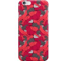 Purrrfect Pattern (Red) iPhone Case/Skin