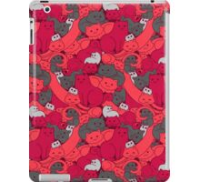 Purrrfect Pattern (Red) iPad Case/Skin
