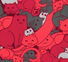 Purrrfect Pattern (Red) Sticker