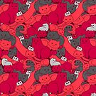 Purrrfect Pattern (Red) by helenasia