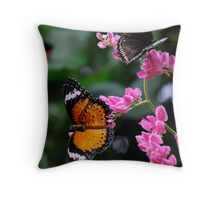 Butterflies Paradise Throw Pillow