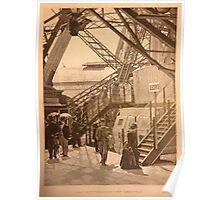 Eiffel Tower Paris France 1889 World Exposition Photograph Poster