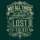 Lost Typography - gold by MiniMoose