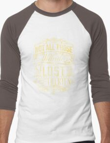 Lost Typography - gold Men's Baseball ¾ T-Shirt