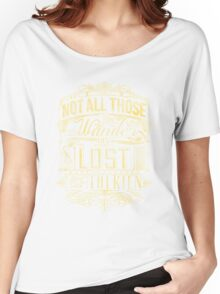 Lost Typography - gold Women's Relaxed Fit T-Shirt