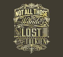 Lost Typography - gold Unisex T-Shirt