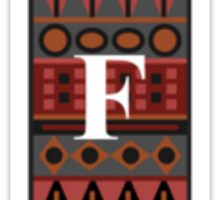 Letter F, Tribal Alphabet Sticker
