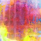 PASTEL IMAGININGS 2 Bold Rainbow Abstract Watercolor Painting Colorful Textural Purple Pink Yellow Summer Fine Art by EbiEmporium