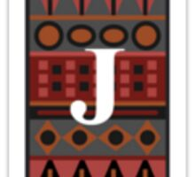 Letter J, Tribal Alphabet Sticker