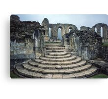 Entrance to Bylands Monastery North Yorkshire England 19840602 0001 Canvas Print