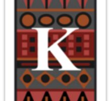 Letter K, Tribal Alphabet Sticker