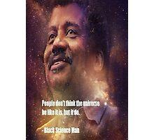 Black Science Man Photographic Print