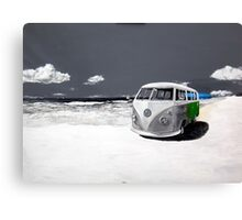 Green Kombi Canvas Print