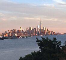 NYC Skyline at Dusk by Osbren