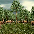 Elasmotherium by Walter Colvin