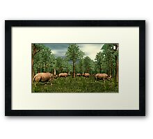 Elasmotherium Framed Print