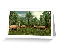 Elasmotherium Greeting Card