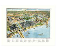 1893 Map of Chicago World's Fair Art Print