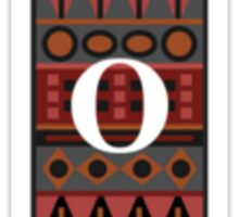 Letter O, Tribal Alphabet Sticker