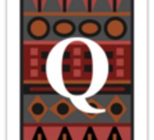 Letter Q, Tribal Alphabet Sticker