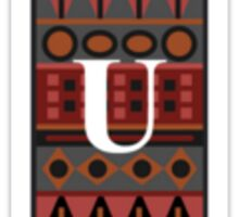 Letter U, Tribal Alphabet Sticker