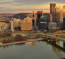 Pittsburgh Panoramic Sunset by AdamJewell