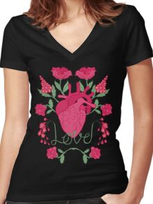 Anatomical Love Women's Fitted V-Neck T-Shirt