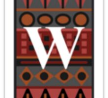 Letter W, Tribal Alphabet Sticker