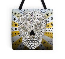 Hipster sugar art skull gifts psychedelic Tote Bag