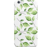 Leaf pattern. Watercolor iPhone Case/Skin