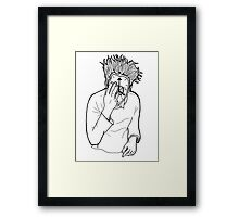 Change is on our hands and faces Framed Print