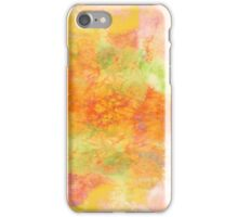 PASTEL IMAGININGS 3 Girly Chic Rainbow Abstract Watercolor Painting Colorful Textural Spring Peach Pink Yellow Green Fine Art iPhone Case/Skin